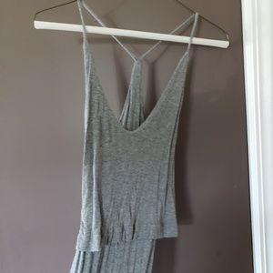 Fashion Nova Gray Maxi Dress